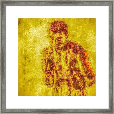 The Golden Man. #muhammedali #ali Framed Print