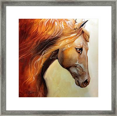 The Golden Framed Print by Marcia Baldwin