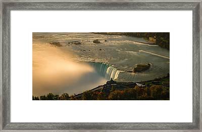 The Golden Mist Of Niagara Framed Print