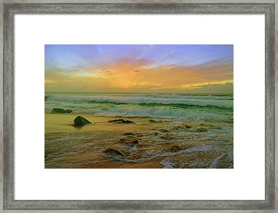 Framed Print featuring the photograph The Golden Moments On Molokai by Tara Turner