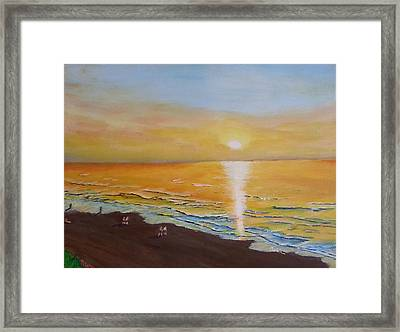 The Golden Ocean Framed Print