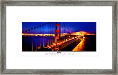 The Golden Path Poster Print Framed Print by Az Jackson