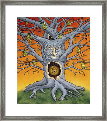 Framed Print featuring the painting The Golden Pear by Paxton Mobley