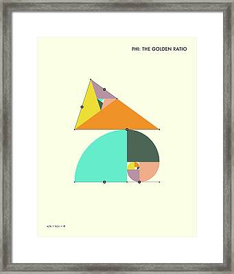 Phi - The Golden Ratio Framed Print by Jazzberry Blue