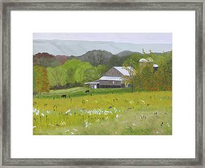 The Golden Rod Is Yellow Framed Print