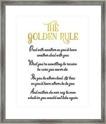 The Golden Rule Framed Print by Flo Karp