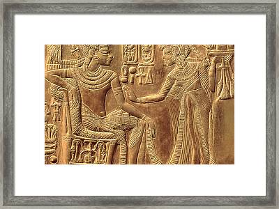 The Golden Shrine Of Tutankhamun Framed Print by Egyptian Dynasty
