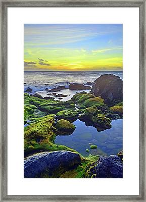 Framed Print featuring the photograph The Golden Skies Of Molokai by Tara Turner