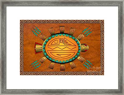 The Golden Spirit Turtle Framed Print