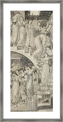 The Golden Stairs Framed Print by Sir Edward Coley Burne-Jones