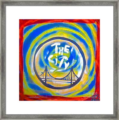 The Golden State City #1 Framed Print by Tony B Conscious