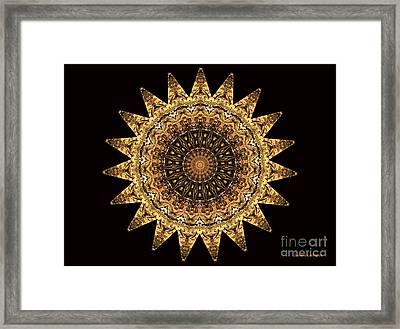 The Golden Sun Mandala Framed Print by Sandra Gallegos