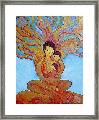 The Golden Tree Of Life Framed Print by Gioia Albano