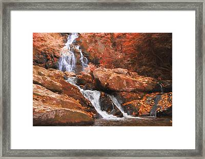 The Golden Waterfall Framed Print by Dan Sproul