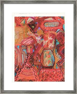 The Goldfish Bowl Framed Print by Anne-Elizabeth Whiteway