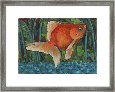 Framed Print featuring the painting The Goldfish Bowl by Susan  Spohn