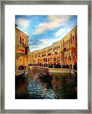 The Gondolier Framed Print