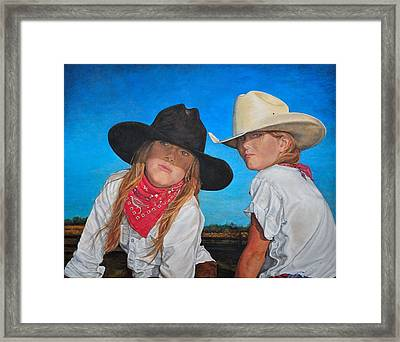 The Good And The Bad Framed Print