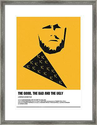 The Good Bad Ugly Clint Eastwood Poster Framed Print