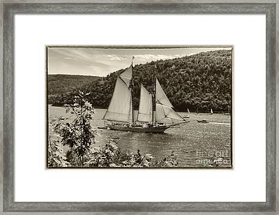 The Good Old Ship Framed Print by Elizabeth Dow