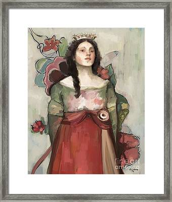 The Good Queen Framed Print by Carrie Joy Byrnes