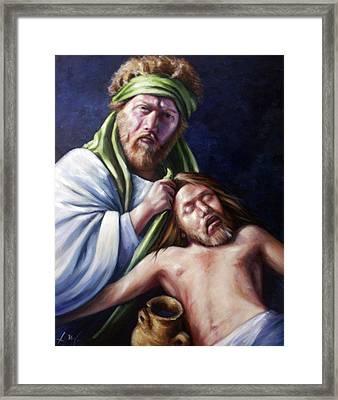The Good Samaritan Framed Print by Laura Ury