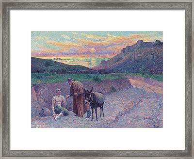 The Good Samaritan Framed Print by Maximilien Luce