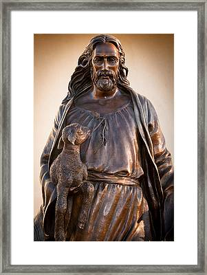 Framed Print featuring the photograph The Good Shepard by Monte Stevens