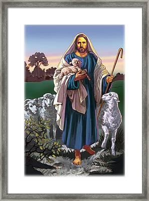 The Good Shephard Framed Print by Valer Ian