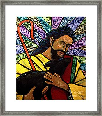 Framed Print featuring the painting The Good Shepherd - Practice Painting One by Jim Harris