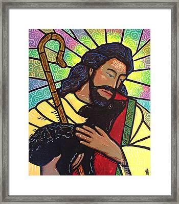 Framed Print featuring the painting The Good Shepherd - Practice Painting Two by Jim Harris