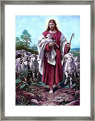 The Good Shepherd 1878 Bernhard Plockhorst Framed Print