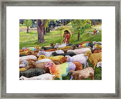The Good Shepherd Framed Print by Anne Gifford