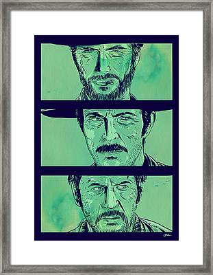 The Good The Bad And The Ugly Framed Print by Giuseppe Cristiano