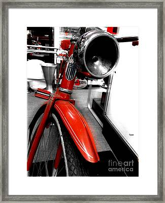 The Goodyear High-way Patrol  Framed Print by Steven Digman