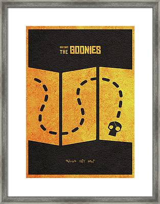 The Goonies Alternative Minimalist Movie Poster Framed Print