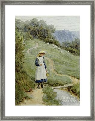 The Goose-girl  Framed Print by Helen Allingham