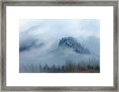 The Gorge In The Fog Framed Print