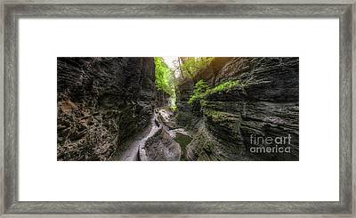 The Gorge Trail Panorama  Framed Print by Michael Ver Sprill