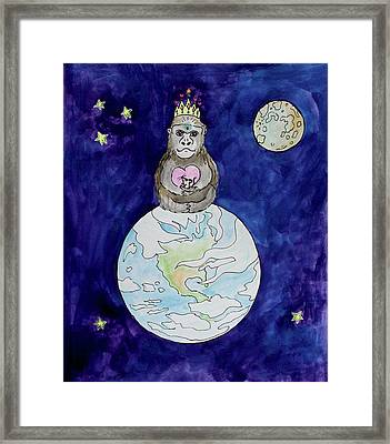 The Gorilla Queen Framed Print by Bonnie Kelso