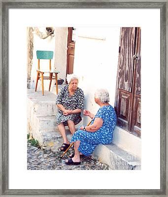 The Gossips II Framed Print by Andrea Simon
