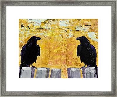 The Gossips Framed Print by Pat Saunders-White