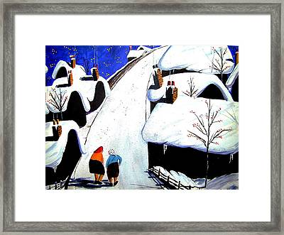 The Gossips Framed Print by Wilfred McOstrich