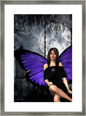 The Gothic Fae Lady Framed Print by Emma Alvarez