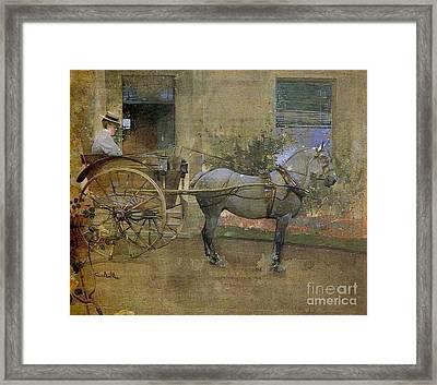 The Governess Cart Framed Print