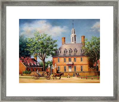The Governor's Palace Framed Print by Gulay Berryman