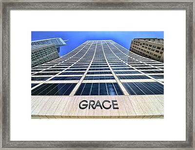 Skyscaper Abstract # 7 - The Grace Building Framed Print