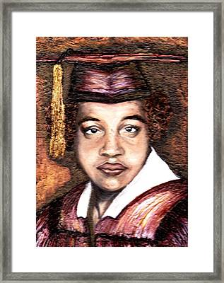The Graduate  Framed Print by Keenya  Woods