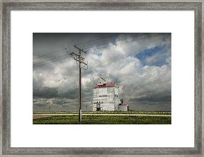 The Grain Elevator In Dog River Framed Print by Randall Nyhof