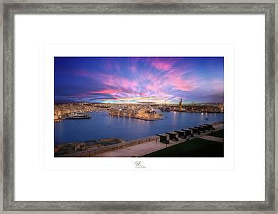 The Gran Harbour Framed Print